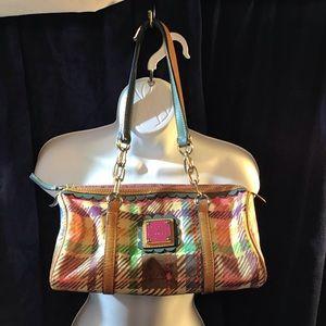 Dooney & Bourke pastel plaid satchel, pretty bag!